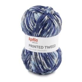 PRINTED TWEED 87 Azul