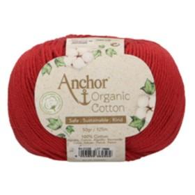 ANCHOR ORGANIC COTTON 01025 Rojo