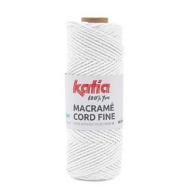 KATIA MACRAMÉ CORD FINE 200 Blanco