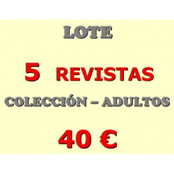 LOTE 5 REVISTAS COLECCION ADULTO