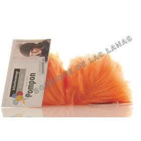 POMPON 00025. Naranja fluorescente