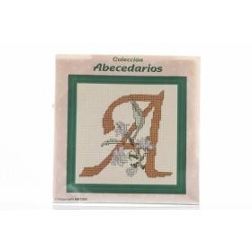 """COLECCION ABECEDARIOS PUNTO DE CRUZ LETRA """"A"""""""