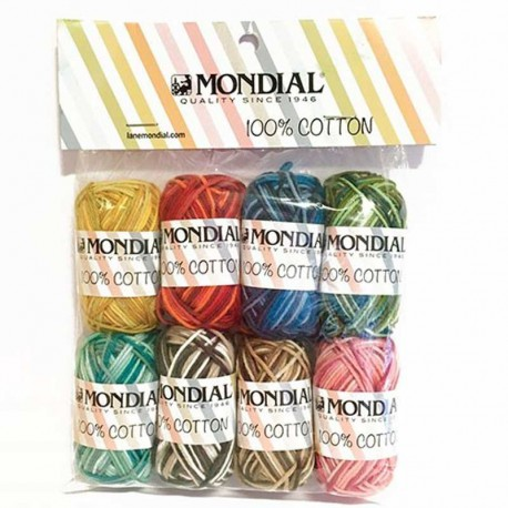 SET MINI BALLS 100% COTTON STAMPE