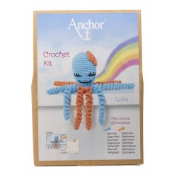 KIT CROCHET PULPITOS. 9061. Azul - Lola