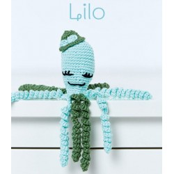 KIT CROCHET PULPITOS. 9065. Celeste - Lilo
